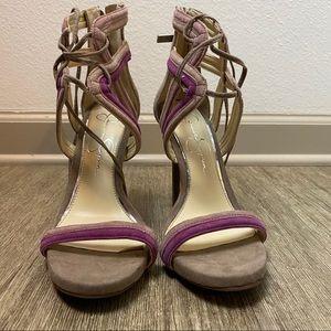 Women's Jessica Simpson Rensa Nude/Plum Heel